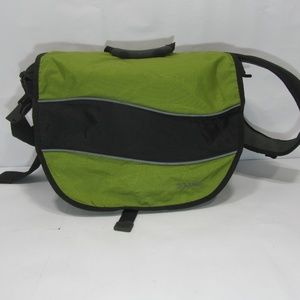 LL Bean Messenger Bag with Padded Strap Green
